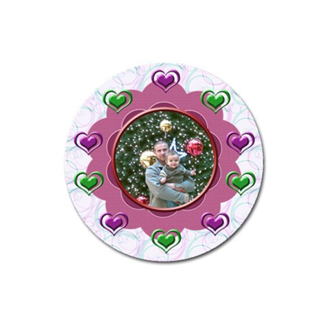 Hearts Magnet By Daniela   Magnet 3  (round)   N2vfhn7fv5wb   Www Artscow Com Front
