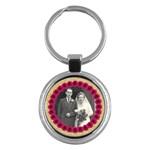 Rosy Posy round keyring - Key Chain (Round)
