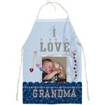 I Love Grandma Full Apron - Full Print Apron