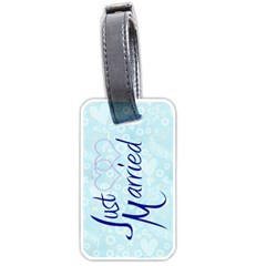 Just Married Honeymoon All Of My Heart Luggage Tag By Catvinnat   Luggage Tag (two Sides)   C08ub7rmo7lg   Www Artscow Com Front