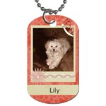 Lily s tag - Dog Tag (One Side)