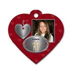 Gemini Zodiac Heart Dog Tag - Dog Tag Heart (One Side)