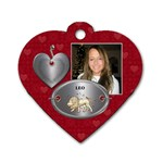 Leo Zodiac Heart Dog Tag - Dog Tag Heart (One Side)