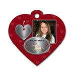 Sagittarius Zodiac Heart Dog Tag - Dog Tag Heart (One Side)