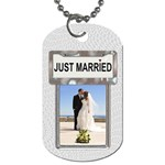 Just Married Dog Tag - Dog Tag (One Side)