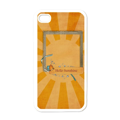 Hello Sunshine  Iphone Case Template By Mikki   Apple Iphone 4 Case (white)   Cof5vlv9727p   Www Artscow Com Front