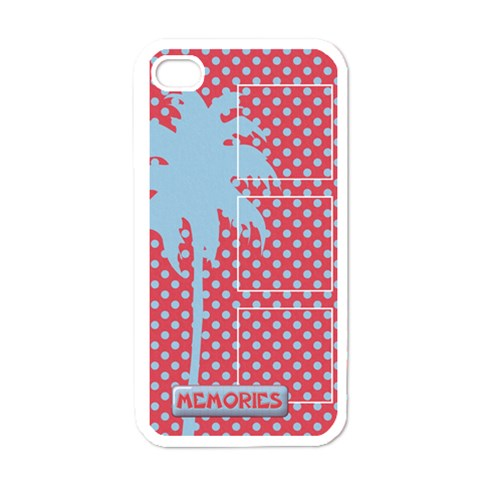 Palm Tree  Iphone Case Template By Mikki   Apple Iphone 4 Case (white)   4mdqfa7ttwzz   Www Artscow Com Front