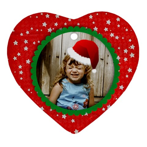 2011 Santa Hat Ornament   Template By Mikki   Ornament (heart)   6bek0vfpy8pg   Www Artscow Com Front