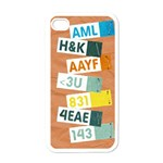 Text Messages-Iphone case template - Apple iPhone 4 Case (White)