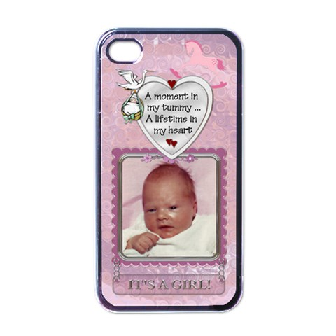 It s A Girl Apple Iphone Case By Lil    Apple Iphone 4 Case (black)   Uq1gegg3badz   Www Artscow Com Front