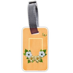 Luggage Tag  Orange Kiss By Jennyl   Luggage Tag (two Sides)   4kj1y6qjon6u   Www Artscow Com Back