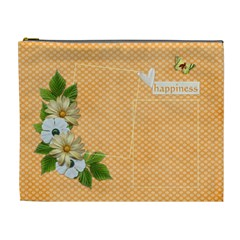 Xl Cosmetic Case  Happines By Jennyl   Cosmetic Bag (xl)   Sehiah4we8on   Www Artscow Com Front