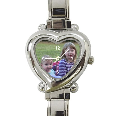 Personalized Watches By Angela Moffett   Heart Italian Charm Watch   1e1v3edkjmzw   Www Artscow Com Front