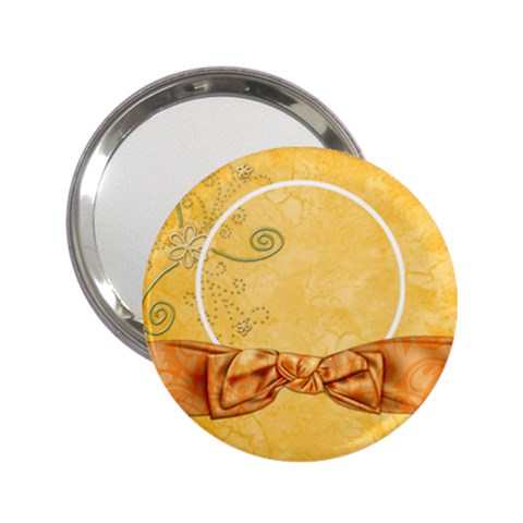 Tangerine Breeze Mirror 2 By Lisa Minor   2 25  Handbag Mirror   Gd8m1why5glo   Www Artscow Com Front