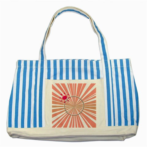 Sunny Tote By Daniela   Striped Blue Tote Bag   Ol6nwf1skxhw   Www Artscow Com Front