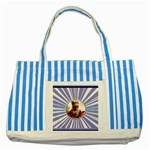 Blue tote - Striped Blue Tote Bag