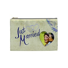 Just Married Medium Cosmetic Bag By Catvinnat   Cosmetic Bag (medium)   H68yec8c7kds   Www Artscow Com Front