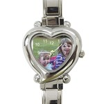 church watch - Heart Italian Charm Watch