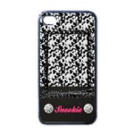 Cow Pattern-iphone case template(black) - Apple iPhone 4 Case (Black)