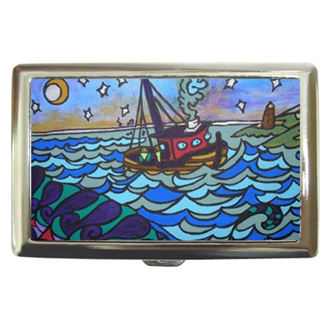 Oceans Mystery Painted By Alienjunkyard   Cigarette Money Case   Ygy0c1oovhih   Www Artscow Com Front
