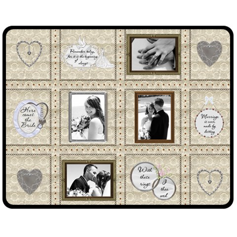 Wedding Memories Medium Fleece Blanket By Lil    Fleece Blanket (medium)   0gxjploeqahd   Www Artscow Com 60 x50 Blanket Front