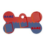 Name dog tag - Dog Tag Bone (One Side)