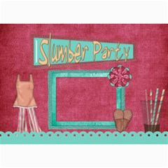 Sleepover Party Invitation By Lisa Minor   5  X 7  Photo Cards   Bnr2c9soc8cm   Www Artscow Com 7 x5 Photo Card - 1