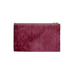 Bliss Plum Cosmetic Bag By Cherish Collages   Cosmetic Bag (small)   Rv482mcr6cov   Www Artscow Com Back