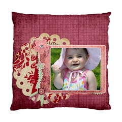 Bliss Plum Cushion By Cherish Collages   Standard Cushion Case (two Sides)   N3vk8t3epla8   Www Artscow Com Front