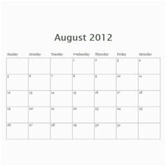 2012 Calendar By Jocey   Wall Calendar 11  X 8 5  (12 Months)   H96uuh5tgta9   Www Artscow Com Aug 2012