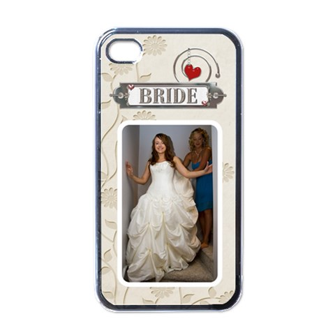 Bride Apple Iphone Case By Lil    Apple Iphone 4 Case (black)   B35urhdf1jqc   Www Artscow Com Front
