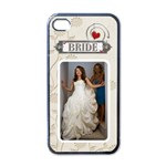 Bride Apple iPhone Case - Apple iPhone 4 Case (Black)