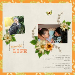 Life Is Beautiful Quickpages By Jennyl   Scrapbook Page 12  X 12    Ds4twkos0m1x   Www Artscow Com 12 x12 Scrapbook Page - 1