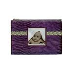 Purple Python Medium Makeup Bag - Cosmetic Bag (Medium)