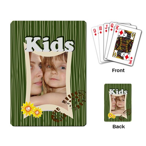 Happy Kids  By Wood Johnson   Playing Cards Single Design   2e7k19riml7u   Www Artscow Com Back