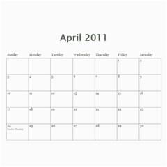 Calender 2011 By Sarah Aitken   Wall Calendar 11  X 8 5  (12 Months)   Ef8ijptiby7d   Www Artscow Com Apr 2011