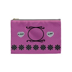 Be Happy Cosmetic Bag By Daniela   Cosmetic Bag (medium)   R1nfun3d6rn9   Www Artscow Com Front