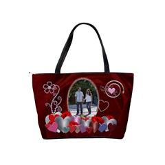 Red Hearts Classic Shoulder Handbag By Lil    Classic Shoulder Handbag   Bqrsxssbsqkj   Www Artscow Com Back