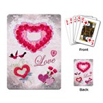 Love pink lace Heart Rose playing cards w photos - Playing Cards Single Design