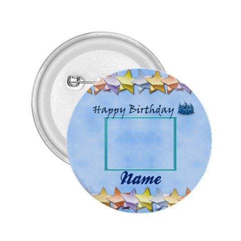 Happy Birthday Button By Daniela   2 25  Button   0o9bra17d402   Www Artscow Com Front