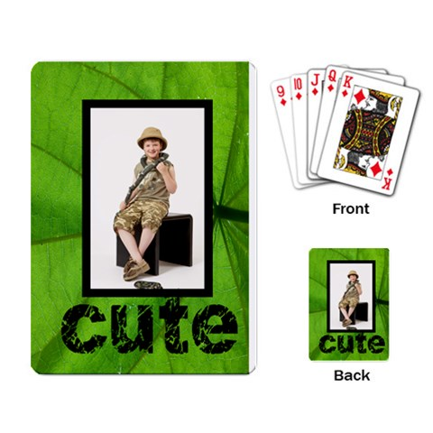 Jungle Cute Playing Cards By Catvinnat   Playing Cards Single Design   0pbnbz4brb9y   Www Artscow Com Back
