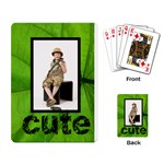 Jungle Cute playing Cards - Playing Cards Single Design