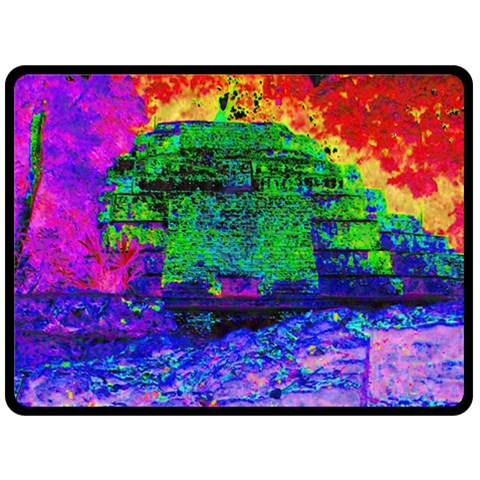 Green Pyramid By Alienjunkyard   Fleece Blanket (large)   You8m9s7bb9r   Www Artscow Com 80 x60 Blanket Front