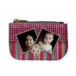 Candy Stripe Twin Frame Mini Coin Purse