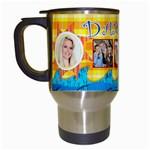 danielle travel mug - Travel Mug (White)