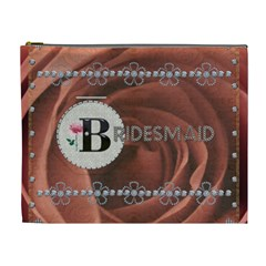 Pretty Bridesmaid Xl Cosmetic Bag By Lil    Cosmetic Bag (xl)   2earjdosud4p   Www Artscow Com Front