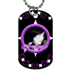 Purple By Heather Knigge Zepeda   Dog Tag (two Sides)   Npiypztad5sh   Www Artscow Com Front