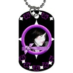 purple - Dog Tag (Two Sides)