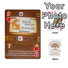 Family Reunion 5 5 By Tomika Holmes   Playing Cards 54 Designs   Iya9scg8s178   Www Artscow Com Front - Heart9