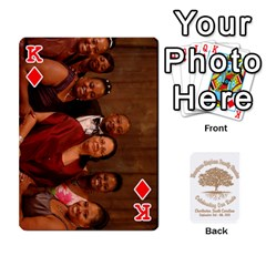 King Family Reunion 5 5 By Tomika Holmes   Playing Cards 54 Designs   Iya9scg8s178   Www Artscow Com Front - DiamondK